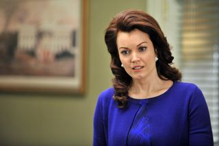 Mellie in royal blue